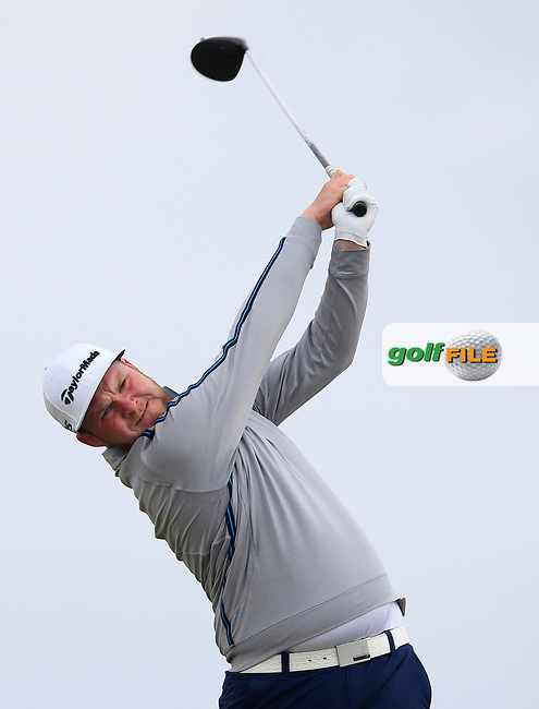 Cian Geraghty (Laytown &amp; Bettystown) on the 16th tee during Round 3 of the East of Ireland Amateur Open Championship at Co. Louth Golf Club in Baltray on Sunday 4th June 2017.<br /> Photo: Golffile / Thos Caffrey.<br /> <br /> All photo usage must carry mandatory copyright credit     (&copy; Golffile   Thos Caffrey)