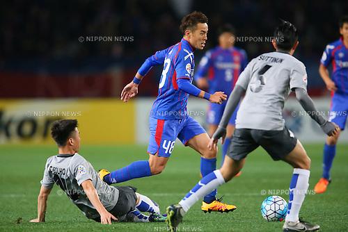 Kota Mizunuma (FC Tokyo), <br /> FEBRUARY 9, 2016 - Football / Soccer : <br /> AFC Champions League 2016 Play-off <br /> between FC Tokyo 9-0 Chonburi FC <br /> at Tokyo Stadium, Tokyo, Japan. <br /> (Photo by YUTAKA/AFLO SPORT)