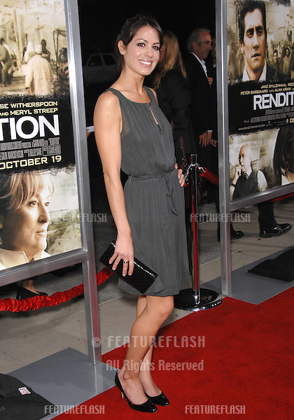 "Michelle Borth at the Los Angeles premiere of ""Rendition"" at the Academy of Motion Picture Arts & Sciences Theatre, Beverly Hills..October 11, 2007  Los Angeles, CA.Picture: Paul Smith / Featureflash"