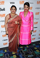 07 September 2017 - Toronto, Ontario Canada - Madhu Chopra, Priyanka Chopra. 2017 Toronto International Film Festival - 'Pahuna: The Little Visitors' Premiere held at Scotiabank Theatre. <br /> CAP/ADM/BPC<br /> &copy;BPC/ADM/Capital Pictures