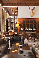 Afrique/Afrique du Nord/Maroc/Essaouira: L'heure Bleue, Palais, Relais et Château le bar Anglais de style colonial