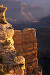 Sunlit cliffs, Grand Canyon National Park, Arizona