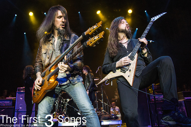 "Oli Herbert and Ron ""Bumblefoot"" Thal of The Stowaways performs during the 2016 ShipRocked Cruise. ShipRocked set sail January 18-22, 2016, from Miami to Costa Maya, Mexico on the Norwegian Pearl."