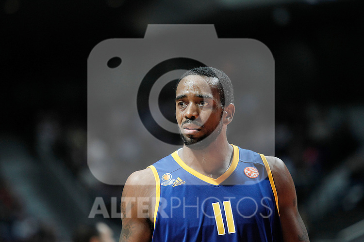 BC Khimki MR's Kelvin Rivers during Euroleague 2012/2013 match.November 23,2012. (ALTERPHOTOS/Acero)