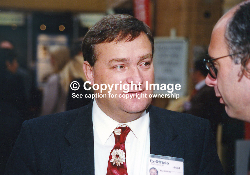 Nick Brown, MP, Labour Party, UK, 19961005NB..Copyright Image from Victor Patterson, 54 Dorchester Park, Belfast, UK, BT9 6RJ..Tel: +44 28 9066 1296.Mob: +44 7802 353836.Voicemail +44 20 8816 7153.Skype: victorpattersonbelfast.Email: victorpatterson@mac.com.Email: victorpatterson@ireland.com (back-up)..IMPORTANT: If you wish to use this image or any other of my images please go to www.victorpatterson.com and click on the Terms & Conditions. Then contact me by email or phone with the reference number(s) of the image(s) concerned.