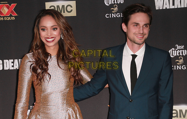 2 October 2014 - Universal City, California - Andrew J. West, Amber Stevens attend AMC celebrates the season five premiere of its hit series, &ldquo;The Walking Dead,&rdquo;  at the  AMC Universal Citywalk Stadium 19/IMAX.  <br /> CAP/ADM/TBO<br /> &copy;Theresa Bouche/AdMedia/Capital Pictures