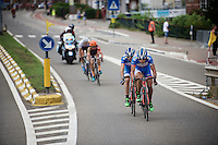 teammates Bjorn Leukemans (BEL/Wanty-Groupe Gobert) &amp;  Marco Marcato (ITA/Wanty-Groupe Gobert) force the pace in front of the race and get a decisive small group going which will eventually race for the win<br /> <br /> GP Jef Scherens 2015