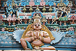 Ranganathaswamy, Classic temple ,sculptures, horizontal,colorful ,