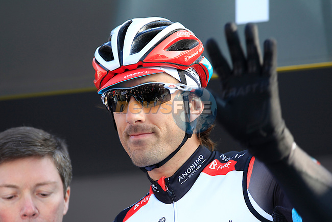 Fabian Cancellara (SUI) Radioshack Leopard Trek at the sign on in Compiegne before the start of the 111th edition of the 2013 Paris-Roubaix cycle race, France 7th April2013 (Photo by Eoin Clarke 2013)