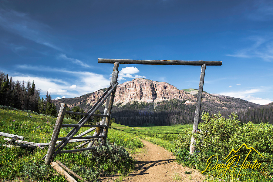 A derelict is still a welcoming entrance to the trial the leads to the upper Yellowstone River, the Thoroughfare River, Teton Wilderness and the east side of Yellowstone Park's wilderness.