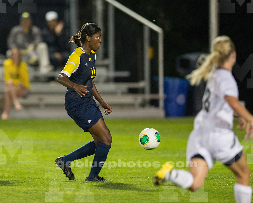 The University of Michigan women's soccer team beat Wisconsin-Milwaukee, 3-0, at the UM Soccer Complex on August 23, 2013.