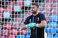 Lincoln City's Grant Smith during the pre-match warm-up<br /> <br /> Photographer Chris Vaughan/CameraSport<br /> <br /> The Carabao Cup First Round - Huddersfield Town v Lincoln City - Tuesday 13th August 2019 - John Smith's Stadium - Huddersfield<br />  <br /> World Copyright © 2019 CameraSport. All rights reserved. 43 Linden Ave. Countesthorpe. Leicester. England. LE8 5PG - Tel: +44 (0) 116 277 4147 - admin@camerasport.com - www.camerasport.com