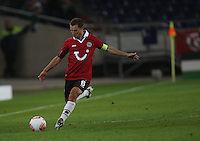 FootballL: Europa League, Qualification, Hannover 96 - St. Patricks Athletic, Hannover, 09.08.2012.Steven Cherundolo (Hannover).¬©¬?pixathlon