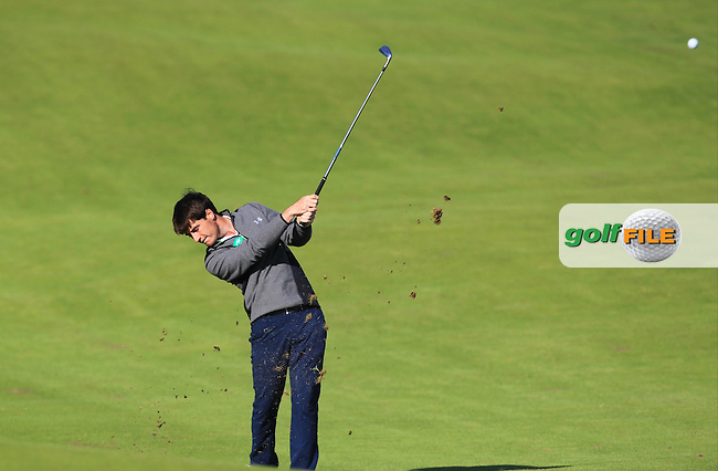 Dermot McElroy (Ballymena) on the 4th fairway during Round 3 of Matchplay in the North of Ireland Amateur Open Championship at Portrush Golf Club, Portrush on Thursday 14th July 2016.<br /> Picture:  Thos Caffrey / www.golffile.ie