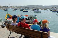 Hafen in Marsaxlokk, Malta, Europa