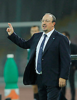 Rafael Benitez  during the Europa League   soccer match between SSC Napoli and Sparta Praha  at  the San Paolo   stadium in Naples  Italy , september 18 , 2014
