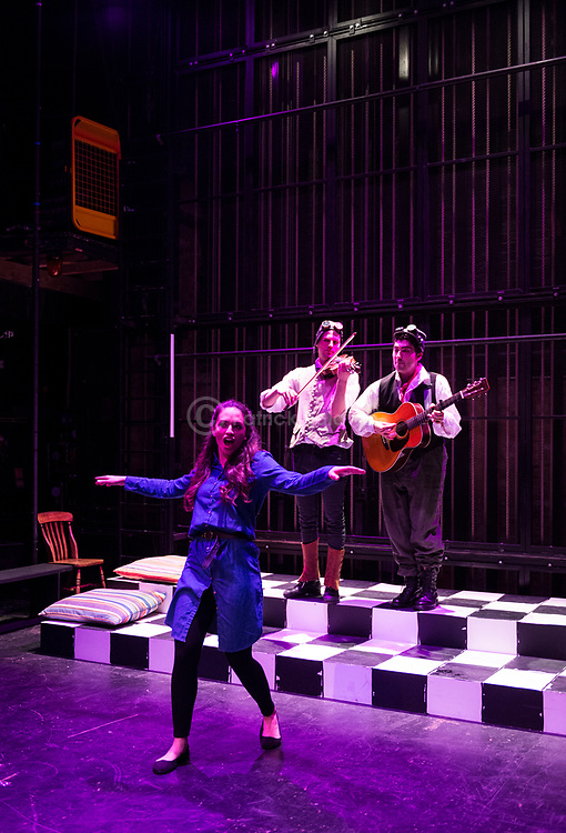 The Royal Central School of Speech and Drama. &quot;The Wonderful World of Dissocia&quot; by Anthony Neilson.<br /> Director: Sarah Davey-Hull<br /> Designer: Kate Driver Jones<br /> Sound Designer: Alex Braithwaite<br /> Lighting Designer: Jamie Platt<br /> Movement Director: Jenny Ogilvie<br /> Vocal and Singing Coach: Deborah Garvey