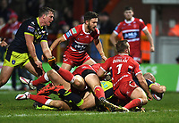 Picture by Anna Gowthorpe/SWpix.com - 02/02/2018 - Rugby League - Betfred Super League - Hull KR v Wakefield Trinity - KC Lightstream Stadium, Hull, England - Wakefield Trinity's Liam Finn dives over to score a try