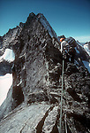 North Cascades National Park, Forbidden Peak, North Ridge, National Outdoor Leadership School, climbers, Cascade Mountains, Washington State, Pacific Northwest, U.S.A.,
