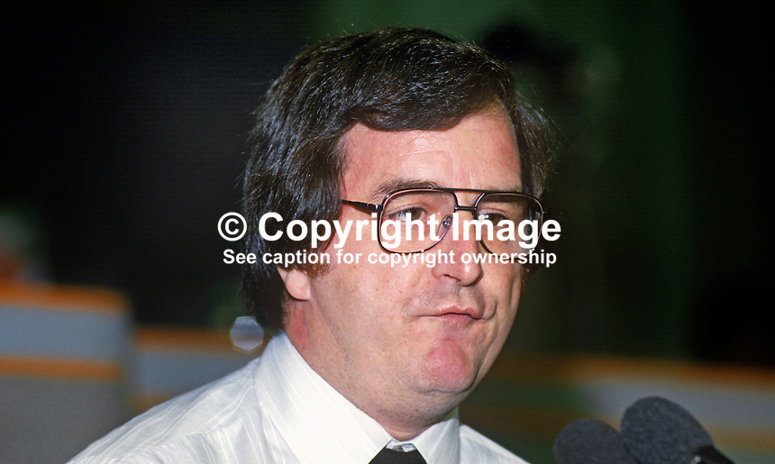 Bill Beaumont, general secretary, National Association of Probation Officers, UK, at annual conference, Labour Party, September 1986. 19860909BB<br /> <br /> Copyright Image from Victor Patterson, 54 Dorchester Park, Belfast, UK, BT9 6RJ<br /> <br /> t1: +44 28 9066 1296<br /> t2: +44 28 9002 2446<br /> m: +44 7802 353836<br /> <br /> e1: victorpatterson@me.com<br /> e2: victorpatterson@gmail.com<br /> <br /> www.victorpatterson.com<br /> <br /> IMPORTANT: Please see my Terms and Conditions of Use at www.victorpatterson.com