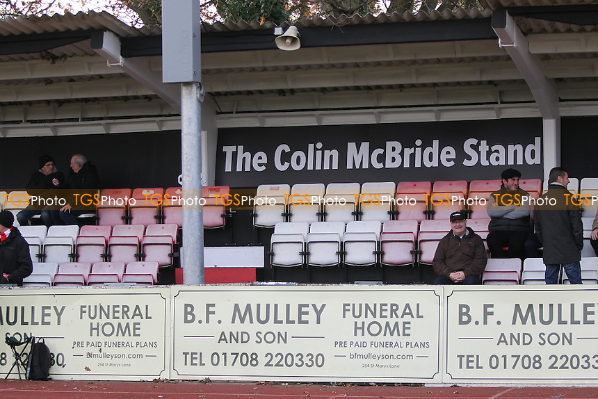 The newly named Colin Bride Stand during AFC Hornchurch vs Maldon & Tiptree, Ryman League Division 1 North Football at Hornchurch Stadium on 26th November 2016
