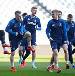 15.02.2019: Rangers training: Steven Davis and Ross McCrorie