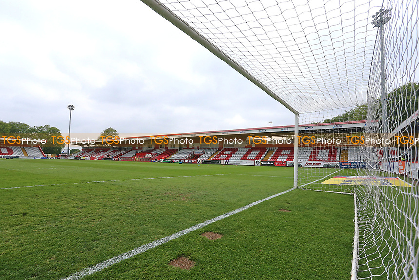 General view of the ground ahead of Stevenage vs Accrington Stanley, Sky Bet EFL League 2 Football at the Lamex Stadium on 6th May 2017