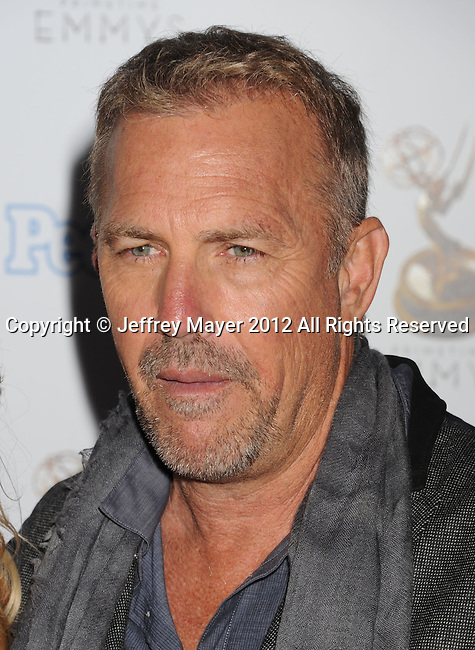WEST HOLLYWOOD, CA - SEPTEMBER 21: Kevin Costner attends the 64th Primetime Emmy Awards Performers Nominee reception held at Spectra by Wolfgang Puck at the Pacific Design Center on September 21, 2012 in West Hollywood, California.