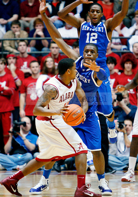in the second half of the UK men's basketball loss, 68-66, against the Alabama Roll Tide at Coleman Arena  on Jan. 18, 2011. Photo by Britney McIntosh | Staff