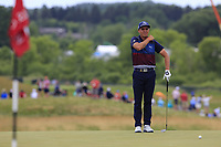 Rickie Fowler (USA) on the 8th green during Saturday's Round 3 of the 117th U.S. Open Championship 2017 held at Erin Hills, Erin, Wisconsin, USA. 17th June 2017.<br /> Picture: Eoin Clarke | Golffile<br /> <br /> <br /> All photos usage must carry mandatory copyright credit (&copy; Golffile | Eoin Clarke)