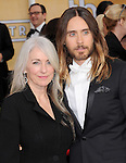 Jared Leto and mom attends The 20th SAG Awards held at The Shrine Auditorium in Los Angeles, California on January 18,2014                                                                               © 2014 Hollywood Press Agency