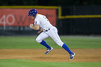 Kort Peterson (8) of the Burlington Royals takes off for second base during the game against the Kingsport Mets at Burlington Athletic Stadium on July 18, 2016 in Burlington, North Carolina.  The Royals defeated the Mets 8-2.  (Brian Westerholt/Four Seam Images)