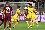 September 8th 2017, Stade Saint-Symphorien, Metz, France; French League 1 football, Metz versus Paris St Germain;  0PRESNEL KIMPEMBE (psg)  ADRIEN RABIOT (psg) hold off the challenge from Emmanuel RIVIERE (metz)