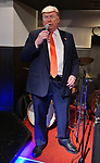 Dennis Alan, impersonator of U.S. President Donald Trump performs at Jazz Bar COMODO in Osaka, Japan on June 27, 2019. (Photo by AFLO)