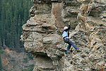 ROCK REPELLING NEAR DAWSON CITY, YUKON, CANADA