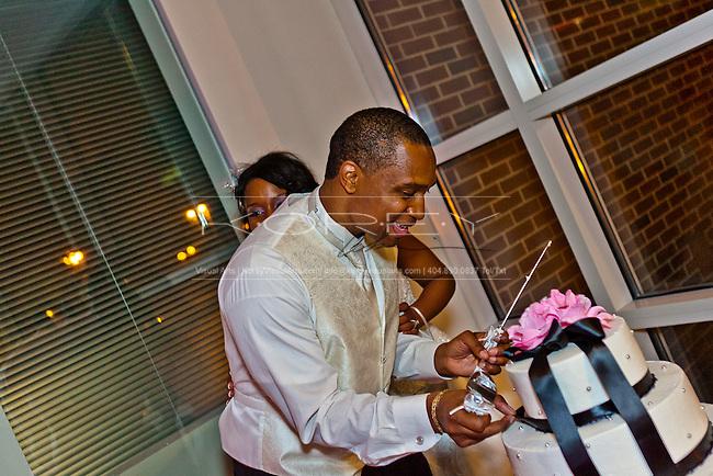 Wedding Photos of Eddie Marshall and Sophia Glover at Christopher W. Klaus Advanced Computing Building in Atlanta, GA.