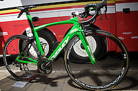 the customised green Ridley SL to match Andr&eacute; Greipel's green jersey<br /> <br /> stage 3: Antwerpen (BEL) - Huy (BEL)<br /> 2015 Tour de France