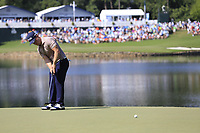 David Lingmerth (SWE) putts on the 14th green during Thursday's Round 1 of the 2017 PGA Championship held at Quail Hollow Golf Club, Charlotte, North Carolina, USA. 10th August 2017.<br /> Picture: Eoin Clarke | Golffile<br /> <br /> <br /> All photos usage must carry mandatory copyright credit (&copy; Golffile | Eoin Clarke)