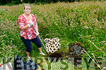 Hazel Bohan from Tarmons East, Tarbert, about to bury her adored pet dog ' Molly ' last Wednesday July 10th last .