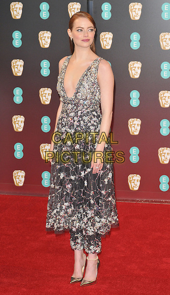 Emma Stone at the EE British Academy Film Awards (BAFTAs) 2017, Royal Albert Hall, Kensington Gore, London, England, UK, on Sunday 12 February 2017.<br /> CAP/CAN<br /> &copy;CAN/Capital Pictures
