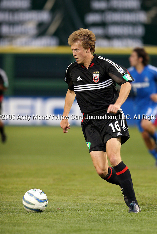 21 May 2005: Brian Carroll. DC United defeated the Kansas City Wizards 3-2 at RFK Stadium in Washington, DC in a regular season Major League Soccer game. . .
