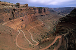Shafer Trail Road and Shafer Canyon, Island in the Sky District, Canyonlands National Park, UTAH