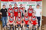 The St Marys team that competed in the Division 1 Mens fiinal  front row l-r: Michael Cahill, Denis Lenihan, Michael Brosnan, Tommy O'Mahony, Back row: Philip Griffin, Declan Culhane, Bob O'Sullivan, Mike Cronin and Seamus Brosnan