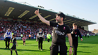 Lincoln City manager Danny Cowley celebrates after winning the league<br /> <br /> Photographer Chris Vaughan/CameraSport<br /> <br /> The EFL Sky Bet League Two - Lincoln City v Tranmere Rovers - Monday 22nd April 2019 - Sincil Bank - Lincoln<br /> <br /> World Copyright © 2019 CameraSport. All rights reserved. 43 Linden Ave. Countesthorpe. Leicester. England. LE8 5PG - Tel: +44 (0) 116 277 4147 - admin@camerasport.com - www.camerasport.com