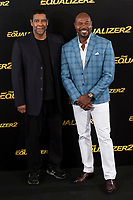American actor Denzel Washington and American director Antoine Fuqua attends to presentation of the film 'The Equalizer 2' at Villa Magna Hotel in Madrid, Spain. August 07, 2018. (ALTERPHOTOS/Borja B.Hojas)