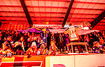 Bolln&auml;s 2014-01-17 Bandy  Bolln&auml;s GIF - Villa Lidk&ouml;ping BK :  <br />  Bolln&auml;s Flames supportrar p&aring; l&auml;ktaren i samband med avslag<br /> (Foto: Kenta J&ouml;nsson) Nyckelord:  supporter fans publik supporters