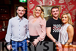 Killian O'Neill, Tracy and Rachel Walshe and Conor Callaghan enjoying the night out in Cassidys on Friday night.
