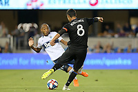 SAN JOSE, CA - AUGUST 24: Chris Wondolowski #8 of the San Jose Earthquakes during a Major League Soccer (MLS) match between the San Jose Earthquakes and the Vancouver Whitecaps FC  on August 24, 2019 at Avaya Stadium in San Jose, California.