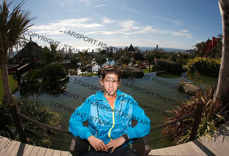 Tenis, Davis Cup, first leg.Spain Vs. Serbia.Filip Krajinovic, posing at Barcelo premium, Asia garden hotel.Benidorm, 04.03.2009..foto: Srdjan Stevanovic/Starsportphoto.com ©