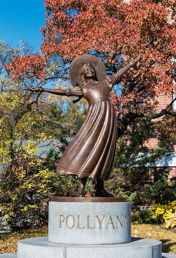 Pollyanna sculpture, Littleton, New Hampshire, USA.